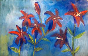 Sketchbook Cover Lilies by Inprismed