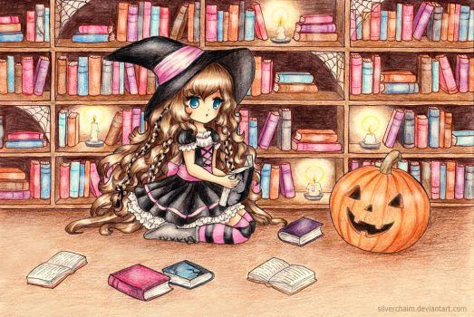 C: Halloween Library by SilverChaim