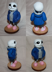 Sans Undertale sculpture by vitav