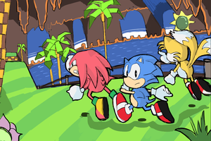 Sonic Mania - Green Hill Zone by AlSanya