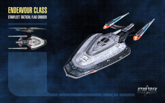 Endeavour Class Starship for Star Trek Online by thomasthecat