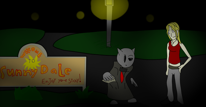 Fella at SunnyDale revealing a deep, dark secret by MethusulaComics