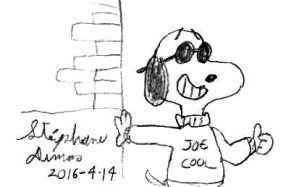 Snoppy as Joe Cool by stephdumas