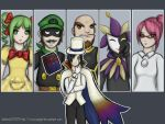 Super Paper Mario villains by Aselea