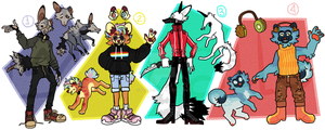 WOLF PACK ADOPTABLES [CLOSED] by realle