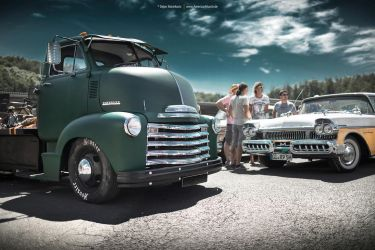 Chevy COE Truck and 1957 Mercury by AmericanMuscle
