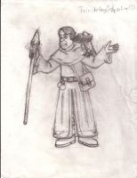 Talel the Coug the Half-Orc Wizard sketch by LLCoolZJ