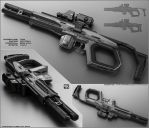 TOM - Concept of futuristic shotgun by peterku