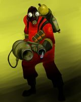 Team fortress two: Pyro by MissyZoe