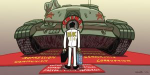 Hong Kong Tank Man by gaudog