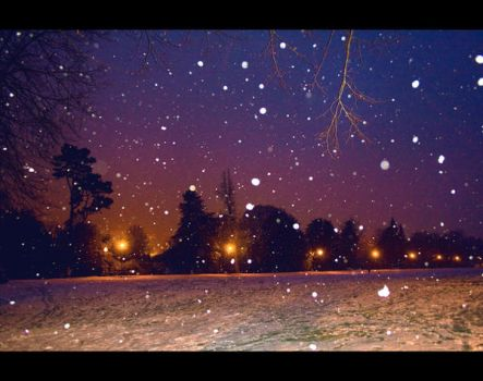 snow at night by tweeny