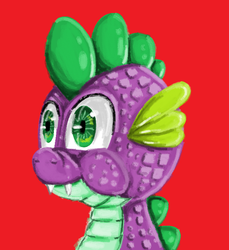 Spike in MS Paint by mlpdarksparx