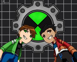 Ben 10 and Generator Rex by DNA2023