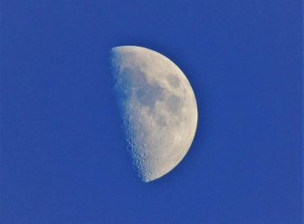 Moon at 7 PM 8-18-18 by knighttemplar1