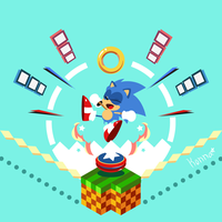 SONIC MANIA VECTOR by KonKonna