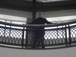 Wesker watching over the Con by BlueEyesMaster