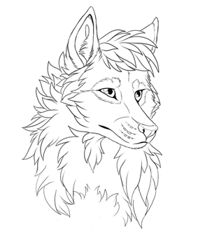 Wolf head - Free Lineart by StanHoneyThief