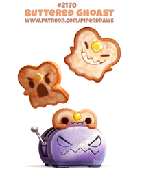 Daily Paint 2170. Buttered Ghoast by Cryptid-Creations