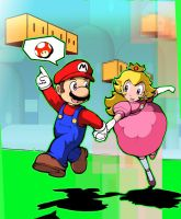 Mario and Peaches by WyntonRed