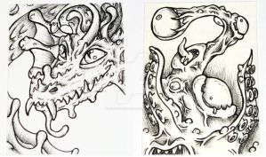 Monster ACEO Cards by JellySoupStudios