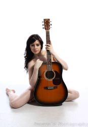 The woman with the guitar. by peneva