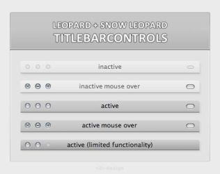OS X Titlebarcontrols by artist00