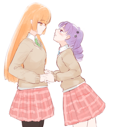 Orange and Purple by Hiwonoafu