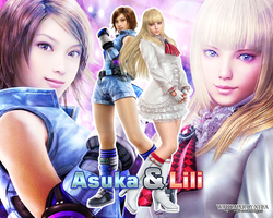Asuka and Lili wallpaper by ladylucienne
