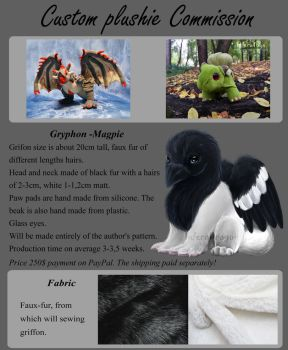 Gryphon -Magpie Commission by InferaDragon