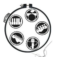 Rock Band Logos Cross stitch pattern by JuliefooDesigns
