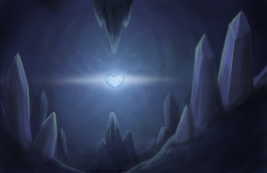In the Lair of the Crystal Heart by TurboSolid