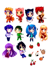 Mini Anime Con chibis by pekou