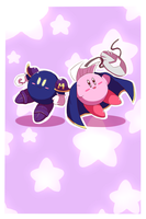 Kirby and Meta by Ele-nya
