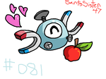 #081 Magnemite by SaintsSister47