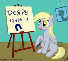 Derpy loves you by DitzyHooves