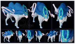 Shiny Suicune Custom Plush by Nazegoreng