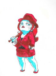 Lady in Red by sketchris