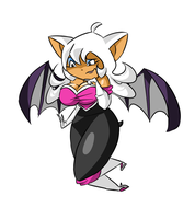 Rouge in Rayman Origins Style by THEChazzPrince