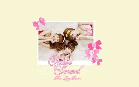 Orange Caramel Wallpaper by HotaruUsagi