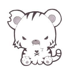 Tokidoki White Tiger by Xeohelios