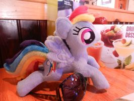 Lunch the day before the race by EquestriaPlush