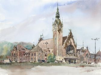 Railway Station, 46x61cm by NiceMinD