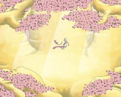 Mew and Mewtwo 1280x1024 by mew-at-heart