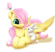 Little Fluttershy by PeachMayFlower
