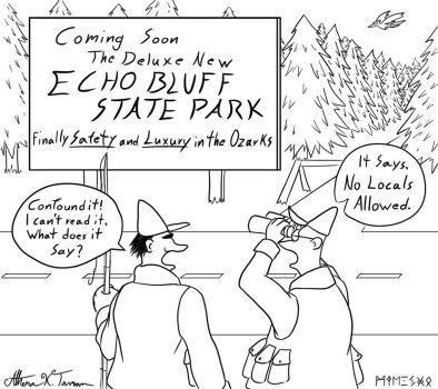 Echo Bluff State Park Cartoon by Athena-Tivnan