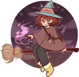 Day 1 - Witch by KiraNohara