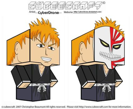Cubeecraft - Ichigo 'Bleach' by CyberDrone