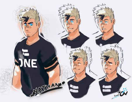 Faces of Nathan by Flooderon