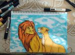 Lion King ProMarkers drawing (traditional art) by Mick2006