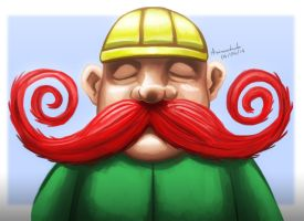 Funny mustache by Animachado
